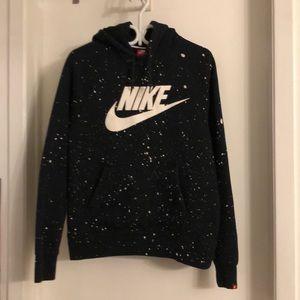 Nike hoodie with splatter design